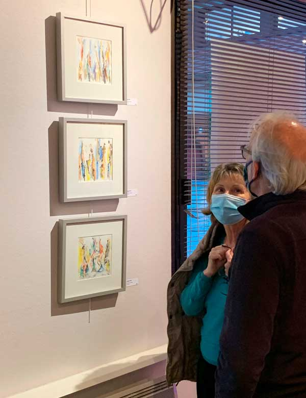 3 tableaux Anne Yeremiyew aux Parasols